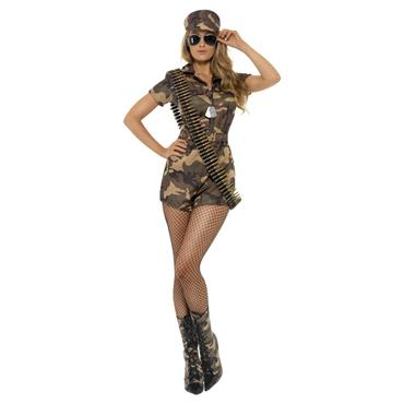 Sexy Army Girl Shorts Jumpsuit Costume