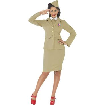 Retro Officer Woman Costume