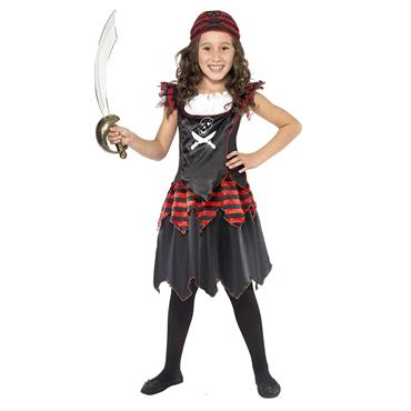 Pirate Skull & Crossbone Girl Costume
