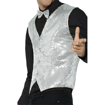 Sequin Waistcoat - Silver
