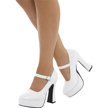 Ladies Platform Shoes - White