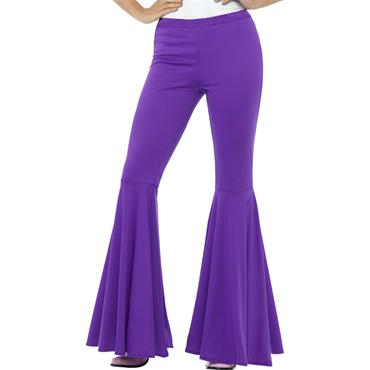 Flared Trousers - Purple