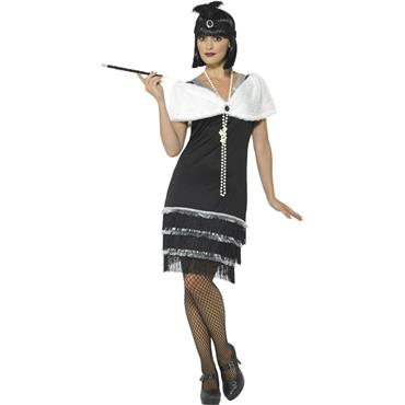 Flapper Costume - Black