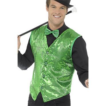 Sequin Waistcoat - Green