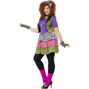 Curves 80's Rock Chick Costume