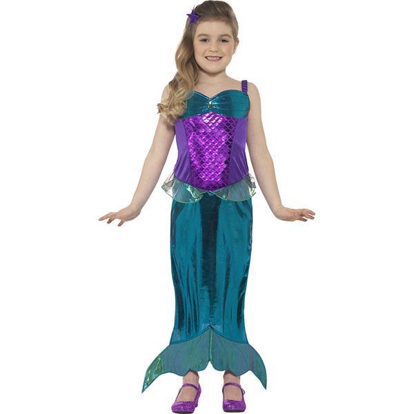Licensed Blue Magical Mermaid Costume Toddler Child Girls Ariel Fancy Dress