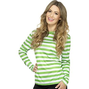 Stripy T Shirt - Green - Where's Wally