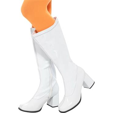 Ladies GoGo Boots - White