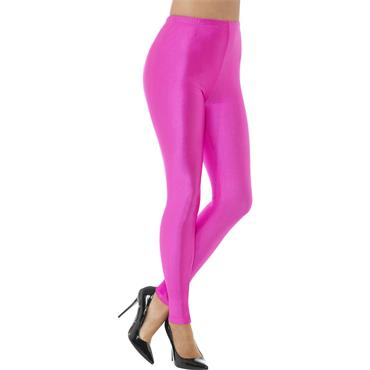 80s Disco Spandex Leggings - Neon Pink