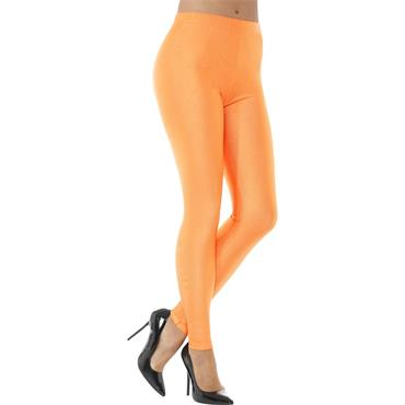 80s Disco Spandex Leggings - Neon Orange