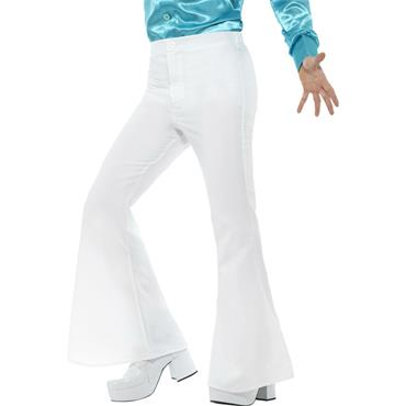 Flared Trousers - White