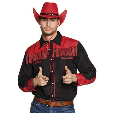 Western Shirt - Red & Black