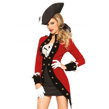 Rebel Pirate Red Coat Costume