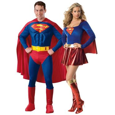 Superman & Supergirl Couples Costumes