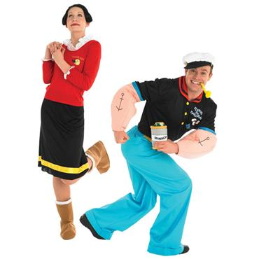 Popeye & Olive Couples Costume