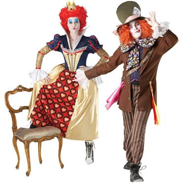 Mad Hatter & Red Queen Couples Costume