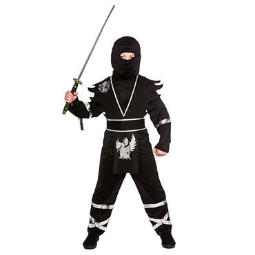 Ninja Assassin - Black Silver Costume