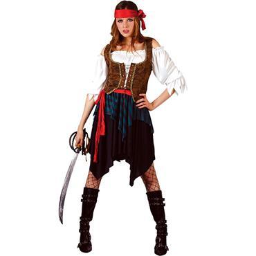 Caribbean Pirate Lady Costume