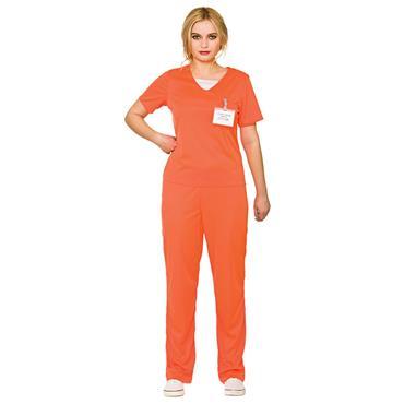 Orange Convict Female Costume