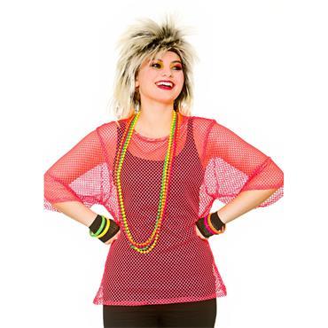 80's Mesh Top - Neon Pink