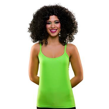 80's Neon Vest Top - Green