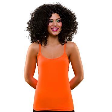 80's Neon Vest Top - Orange