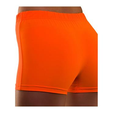 80's Neon Hot Pants - Orange