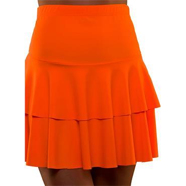 80's Neon Ra Ra Skirt - Orange
