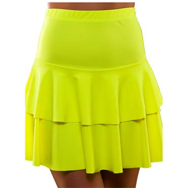 80's Neon Ra Ra Skirt - Yellow