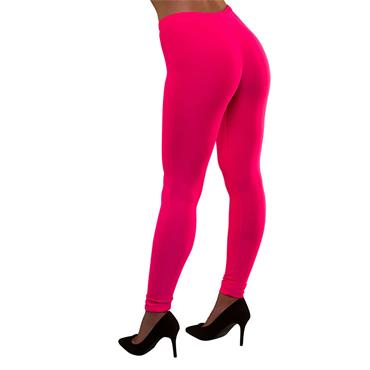 80's Neon Leggings - Pink