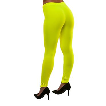 80's Neon Leggings - Yellow