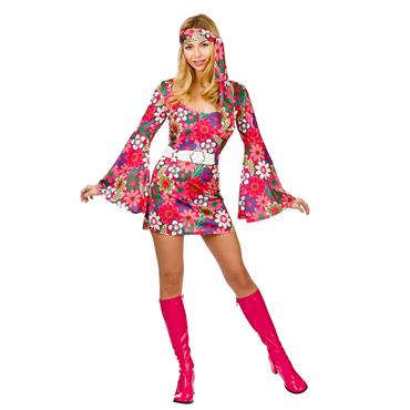 Retro Go-Go Girl - Flower Print Costume