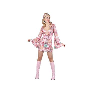 Retro Go Go Girl - Pink Flower Costume
