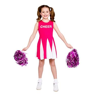 Girls Cheerleader Costume - Hot Pink