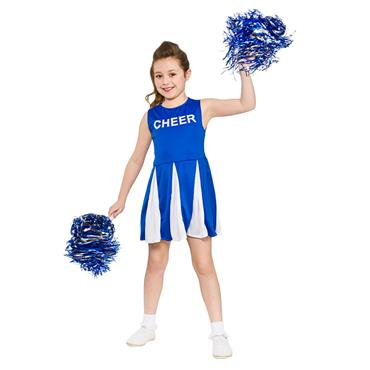 Girls Cheerleader Costume - Blue & White