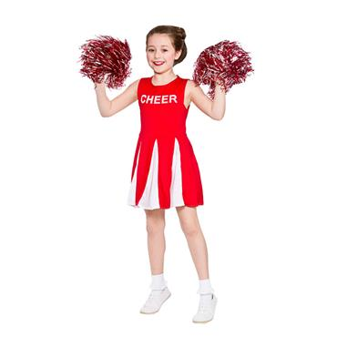 Girls Cheerleader Costume - Red & White
