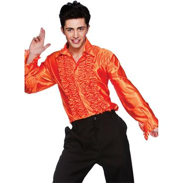 Orange Disco Ruffle Shirts