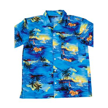 Hawaii Shirt Blue Palm Trees