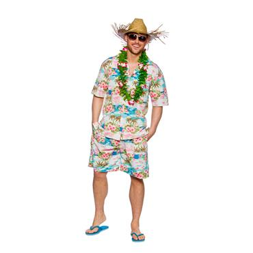 Hawaiian Party Guy - Pink Floral