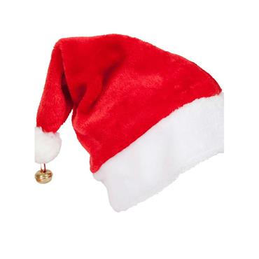 Deluxe Santa Hat with Brass Bell
