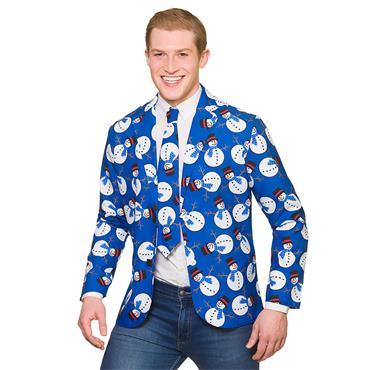 Christmas Jacket & Tie - Snowman
