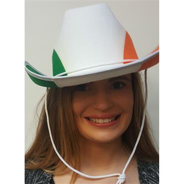 Irish Cowboy Hat (Green, White & Orange)