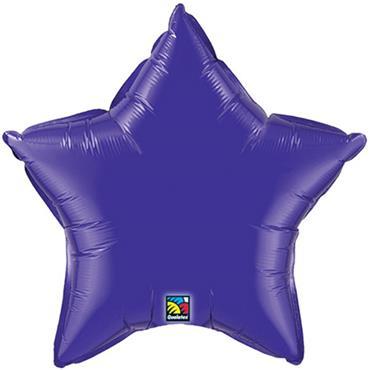 "Purple Star Foil Balloon 19"""