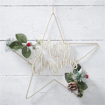 Star Foliage Christmas Wreath