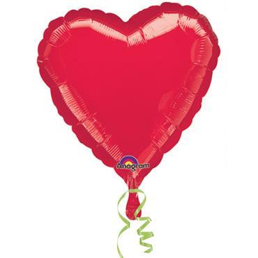 "Red Heart Foil Balloon 18"""