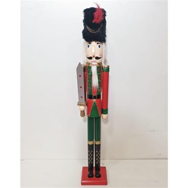 3.5ft Wooden Red Christmas Nutcracker