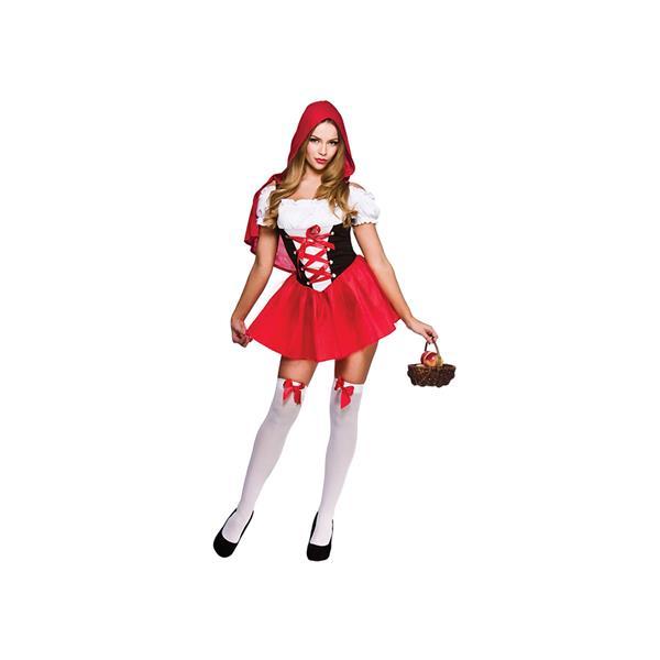 Red Riding Hood Cape Ladies Fancy Dress Up Superhero Womens Halloween Costume