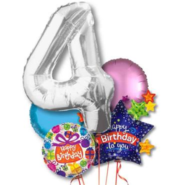 Aged Birthday Foil Balloon Bouquet Delivery – Standard