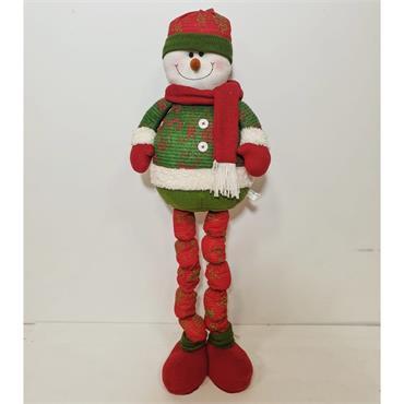 Christmas Snowman Retractable Long Legs Gnome
