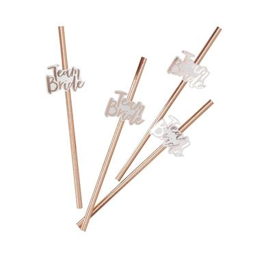Team Bride Straws